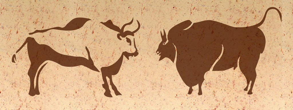 Wandschablone Tiere Büffel