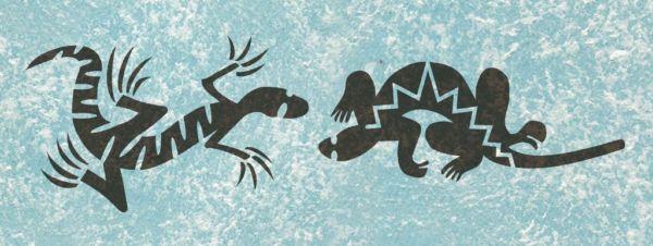 Wandschablone Tiere Echsen