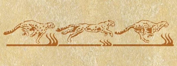 Malerschablone Wandschablone Tiere Gepard