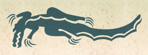 Wandschablone Reptilien Krododil