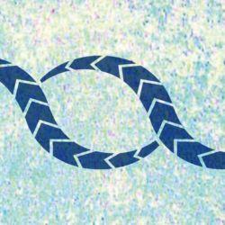 Wandschablone Schlangenmuster