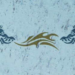Wandschablone chinesischer Drachen