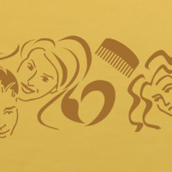 Wandschablone Friseur special