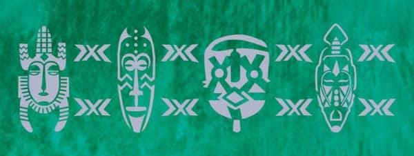 Wandschablone Maske Kultur