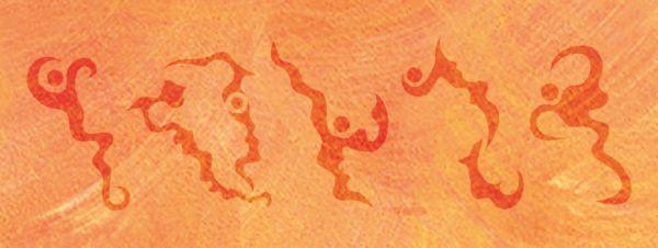 Wandschablone Organik
