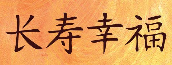 Wandschablone chinesisches Zeichen
