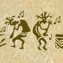 musiker wandschablone kultur