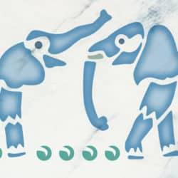 Schablone Elefanten 3