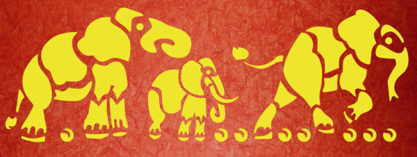 Schablone Elefanten 4