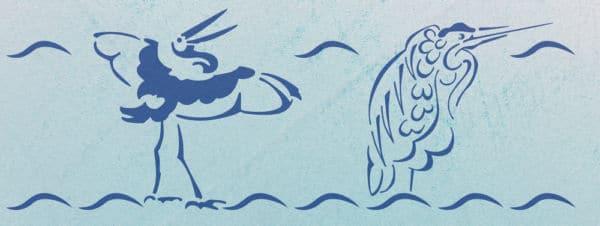 Reiher Schablone