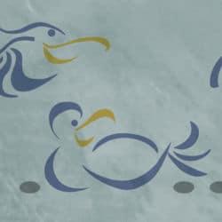 Vögel Möwen Schablone Meer