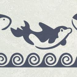 Schwertwale Orka Wandschablonen