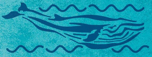 Wandschablone Blauwal