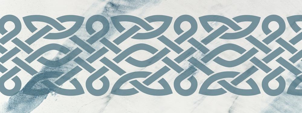 Wandschablone Keltisches Band 3 Kultur