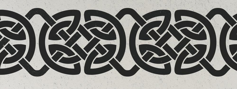 Wandschablone Keltisches Band 4 Kultur