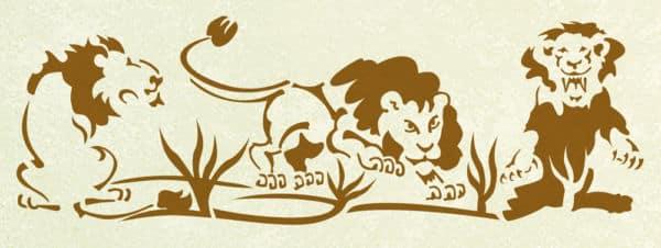 Schablone Löwen 2 Afrika