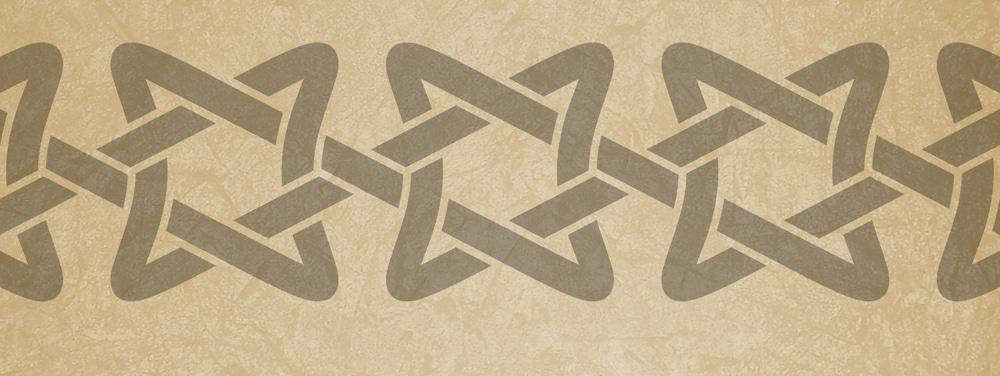 Wandschablone Keltisches Band 6 Kultur