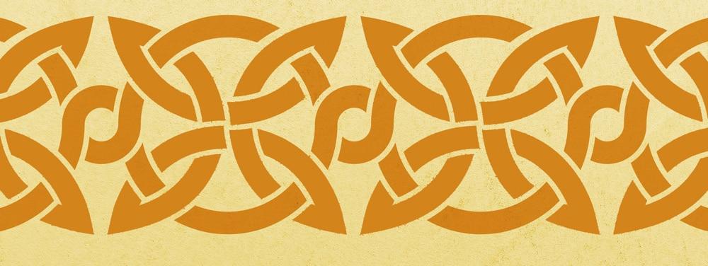 Wandschablone Keltisches Band 7 Kultur