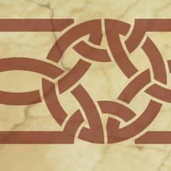 Wandschablone Keltisches Band 8 Kultur