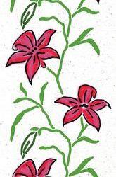 florale Wandschablone Lilien