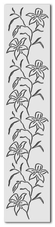 Wandschablone Lilien