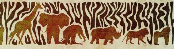Wandschablone Wild Afrika