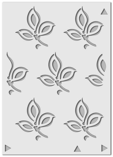 Wandschablone Lilie Floral