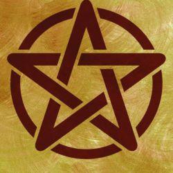 Wandschablone Pentagramm