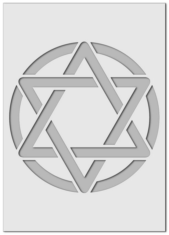Wandschablone Hexagramm Mystik