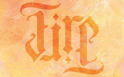 Wandschablone Ambigramm Fire