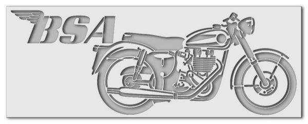 Wandschablone BSA Motorrad