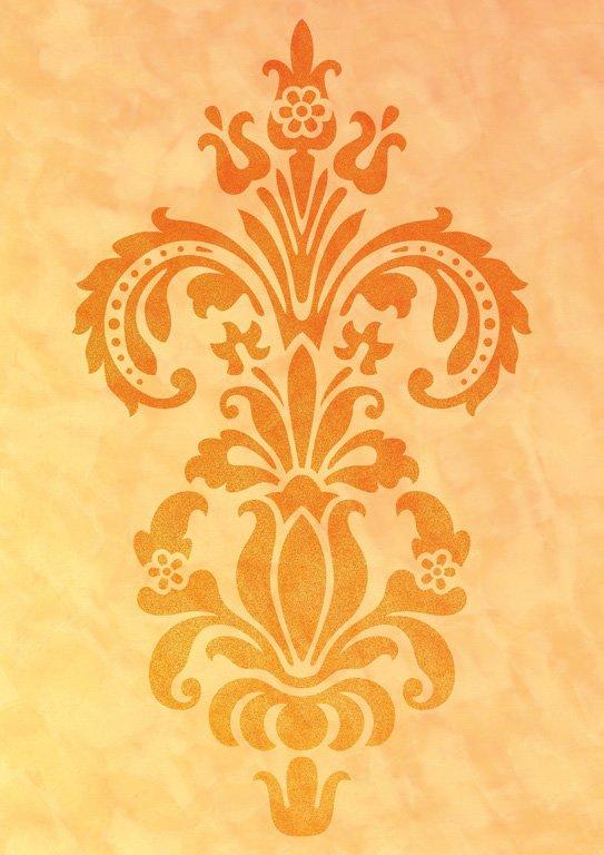 Wandschablone Blumenvignette 1