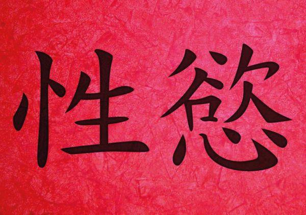 lust chinesisches zeichen