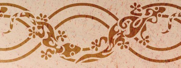 Wandschablone Gecko 1