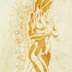 Wandschablone Engel 3