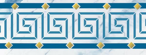 Wandschablone Ornamen teGreek Kultur