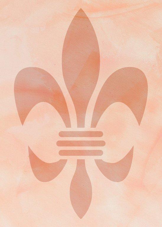 Wandschablone Französische Lilie