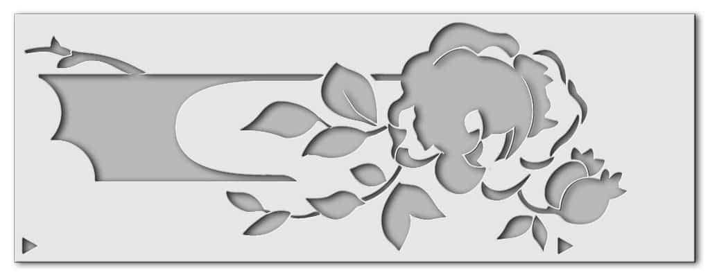 Wandschablone Floral Rosen