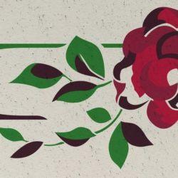Wandschablone Rosen