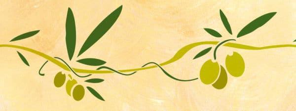 Wandschablone Olivenzweig 1