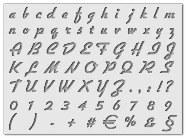 Wandschablone Alphabet Special