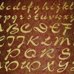 Wandschablone Alphabet 2