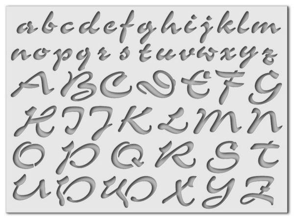 Wandschablone Special Alphabet 2
