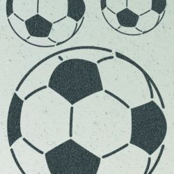 Wandschablone Fussball