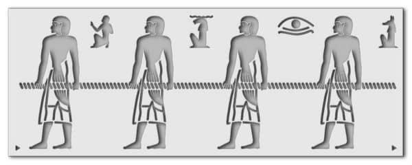 Wandschablone Kultur Egypt
