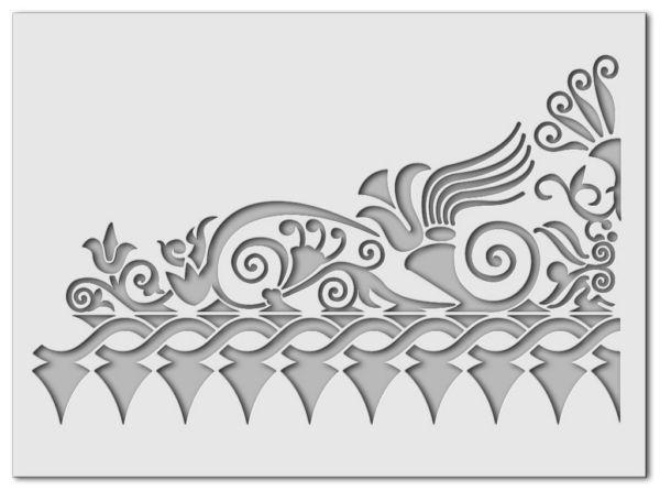 Wandschablone Kultur Ornament 1