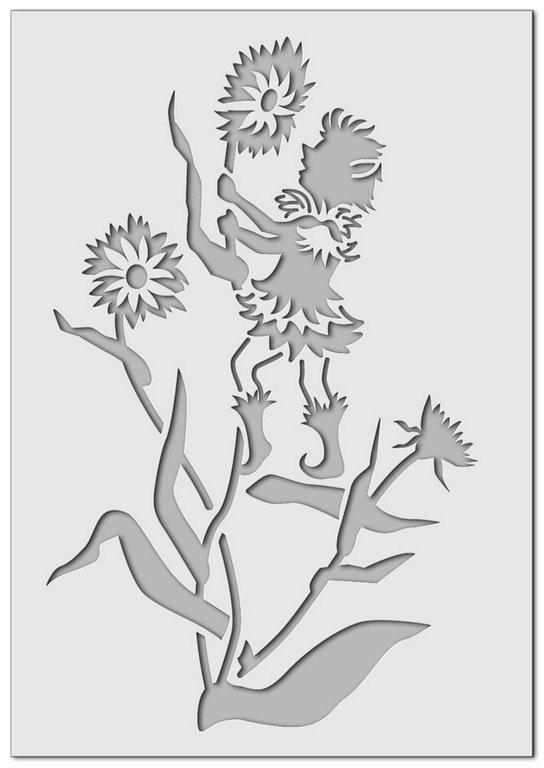 Wandschablone Kobold