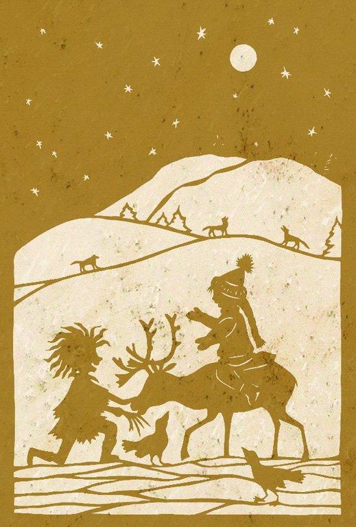 Wandschablone Die Schneekönigin 8