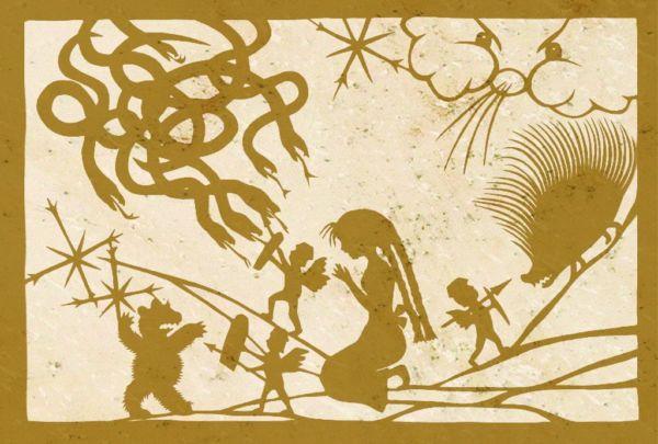 Wandschablone Die Schneekönigin 9