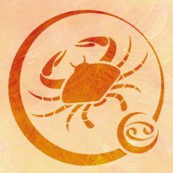 Wandschablone Tierkreiszeichen Krebs